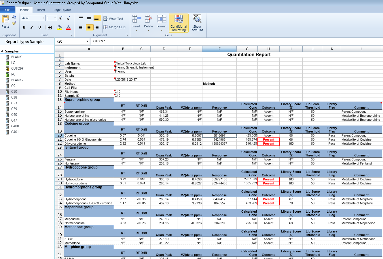 Sample  Report | Tf3 3 Example Of A Sample Report Using Compound Groups Tracefinder
